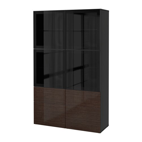 Best storage combination wglass doors black brownselsviken high best storage combination wglass doors planetlyrics Choice Image