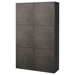 Color: Black-brown kallviken/dark gray concrete effect.