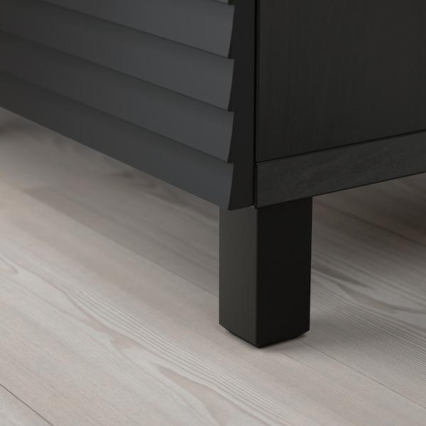 "BESTÅ Storage combination with doors, black-brown/Stockviken/Stubbarp anthracite, 70 7/8x16 1/2x29 1/8 """