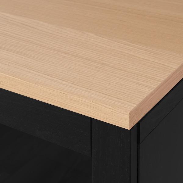 "BESTÅ Storage combination with doors, black/Sindvik/Stubbarp black, 70 7/8x16 1/2x29 7/8 """