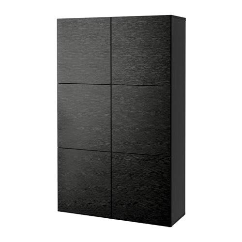 best storage combination with doors black brown laxviken black 47 1 4x15 3 4x75 5 8 ikea. Black Bedroom Furniture Sets. Home Design Ideas
