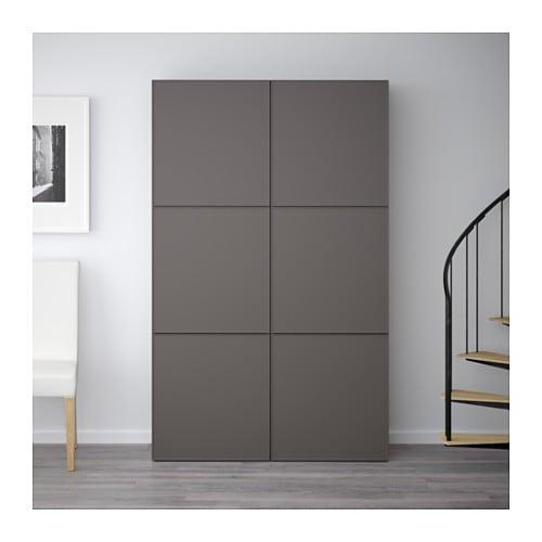 BESTÅ Storage combination with doors - walnut effect light gray/Laxviken black - IKEA  sc 1 st  Ikea & BESTÅ Storage combination with doors - walnut effect light gray ...