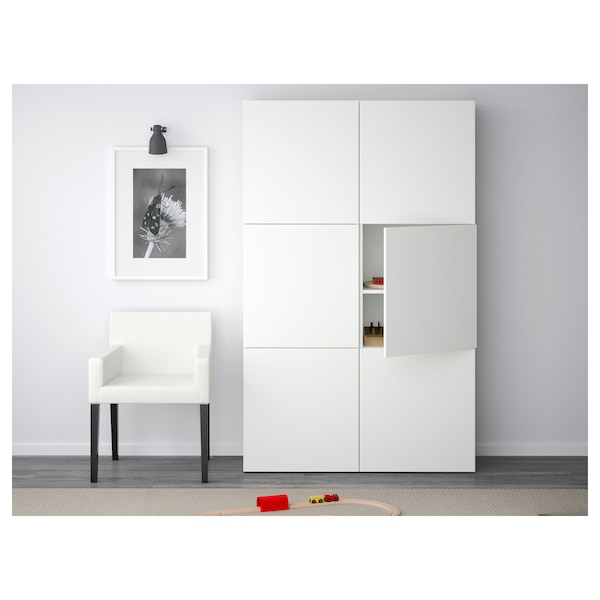"BESTÅ storage combination with doors Lappviken white 47 1/4 "" 15 3/4 "" 75 5/8 """
