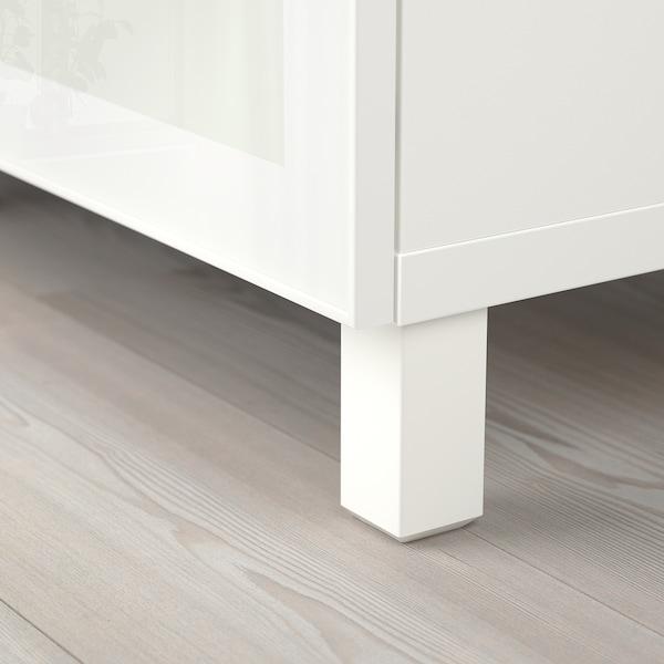 "BESTÅ Storage combination with doors, white/Glassvik/Stubbarp white frosted glass, 70 7/8x16 1/2x29 1/8 """