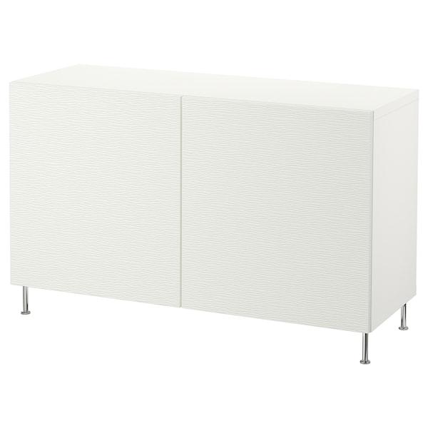 """BESTÅ storage combination with doors white/Laxviken/Stallarp white 47 1/4 """" 15 3/4 """" 29 1/8 """""""
