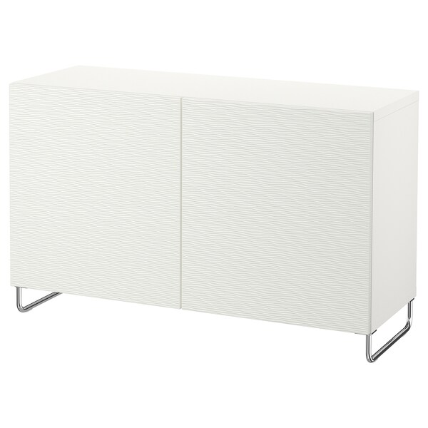 """BESTÅ storage combination with doors white/Laxviken/Sularp white 47 1/4 """" 15 3/4 """" 29 1/8 """""""