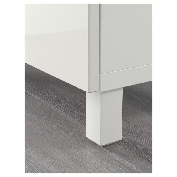 "BESTÅ Storage combination with doors, white/Selsviken high-gloss/white, 70 7/8x15 3/4x29 1/8 """