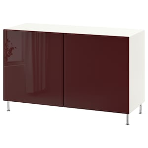Color: White selsviken/stallarp/high gloss dark red-brown.