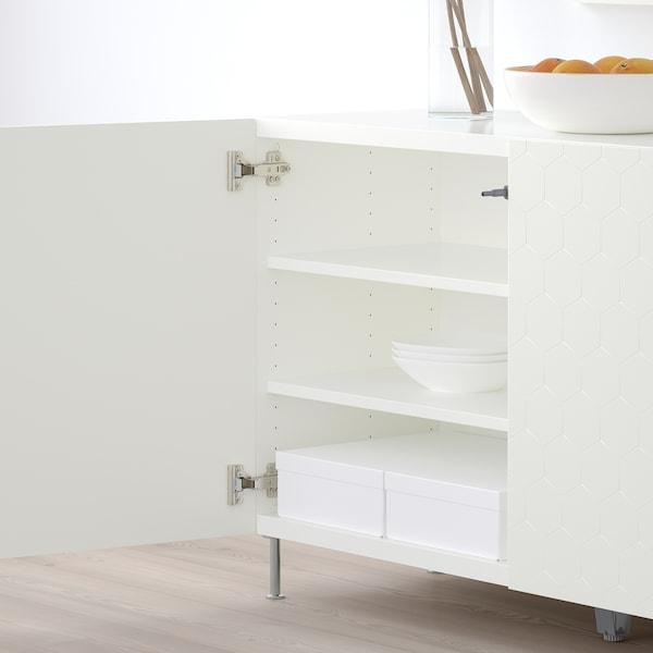 """BESTÅ storage combination with doors white/Vassviken/Stallarp white 47 1/4 """" 15 3/4 """" 29 1/8 """""""