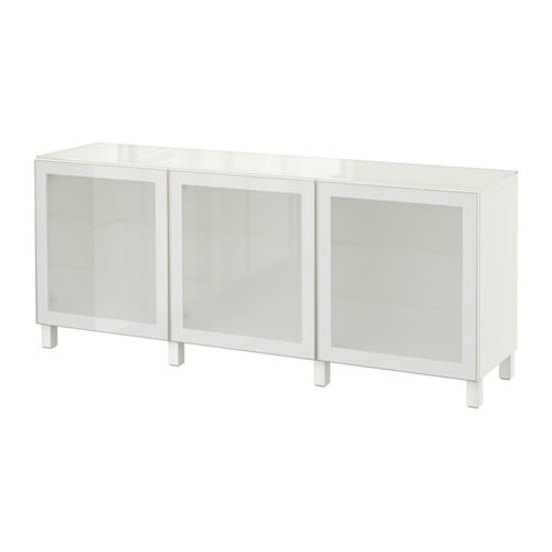 Combination with doors white glassvik white frosted glass ikea