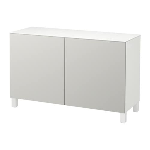 Best storage combination with doors white lappviken for Ikea besta blanc