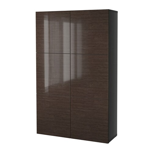best storage combination with doors black brown. Black Bedroom Furniture Sets. Home Design Ideas