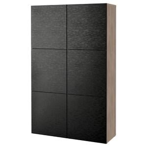 Color: Walnut effect light gray/laxviken black.
