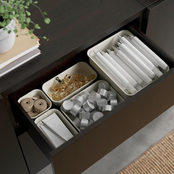 "BESTÅ Storage combination with drawers, black-brown Hedeviken/Stubbarp/dark brown stained oak veneer, 70 7/8x16 1/2x29 1/8 """