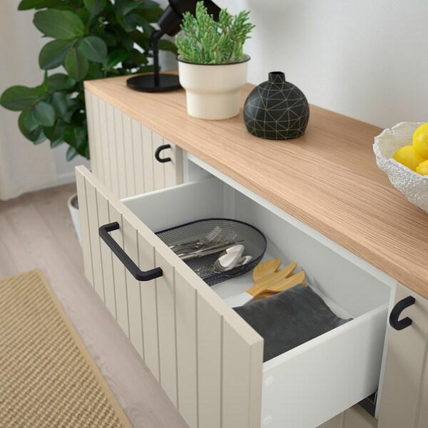"""BESTÅ Storage combination with drawers, white/Sutterviken/Kabbarp gray-beige, 70 7/8x16 1/2x29 7/8 """""""