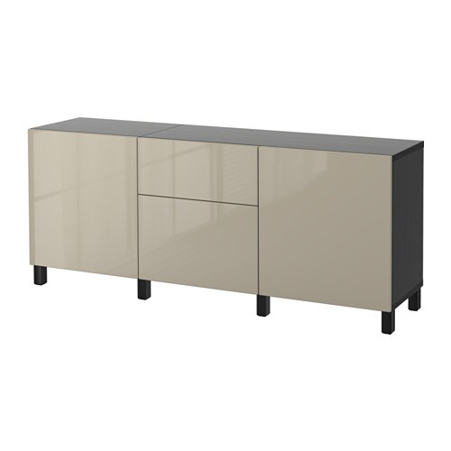 best storage combination with drawers black brown selsviken high gloss beige drawer runner. Black Bedroom Furniture Sets. Home Design Ideas