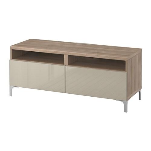 Best Tv Bench With Drawers Walnut Effect Light Gray Selsviken High Gloss Beige Ikea