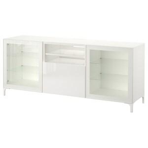 Color: White/selsviken high gloss/white clear glass.