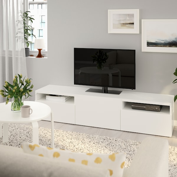 Witte Ikea Tv Kast.Besta Tv Unit Lappviken White 70 7 8x16 1 2x15 3 8 Order Today
