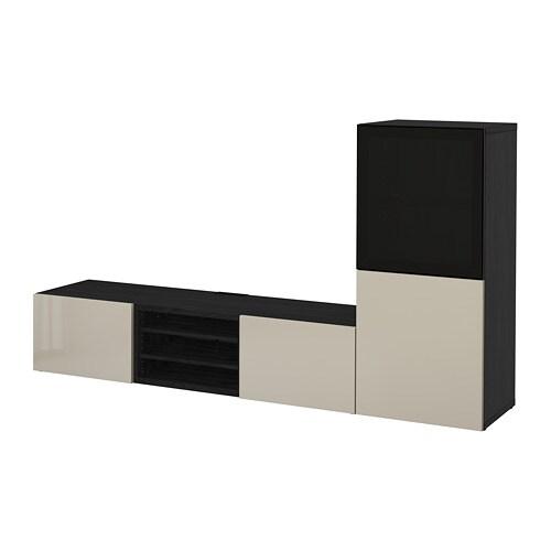 Bestå Tv Storage Combinationglass Doors Black Brownselsviken