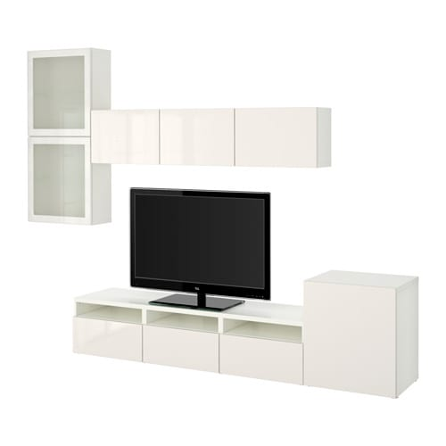 Ikea Cabinet With Frosted Glass ~   high gloss white frosted glass, drawer runner, push open  IKEA