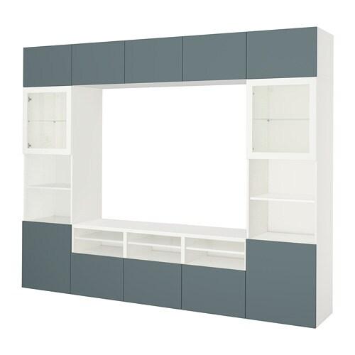 Best Tv Storage Combinationglass Doors Whitevalviken Gray