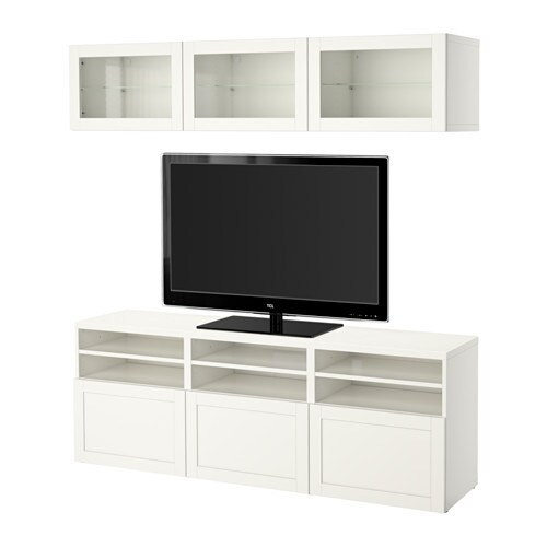 Tv Helping Push Kitchens Off The Shelf: BESTÅ TV Storage Combination/glass Doors
