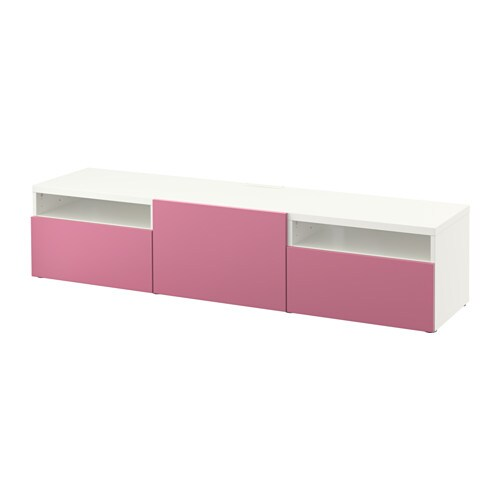 Best tv unit white lappviken pink 180x40x38 cm drawer runner soft closi - Meuble tv ikea wenge ...