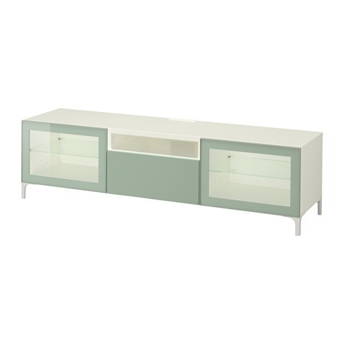 Best Tv Unit White Selsvikenhigh Glosslight Gray Green Clear