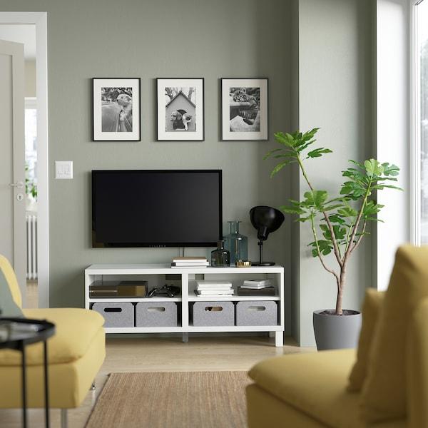"BESTÅ TV unit, white, 47 1/4x15 3/4x18 7/8 """