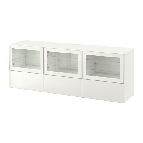 Best Tv Unit With Doors And Drawers Whiteselsviken High Gloss
