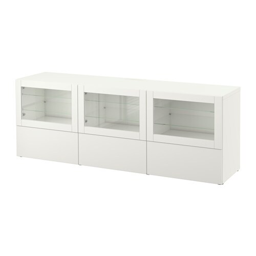 Best Tv Unit With Doors And Drawers Lappvikensindvik White Clear