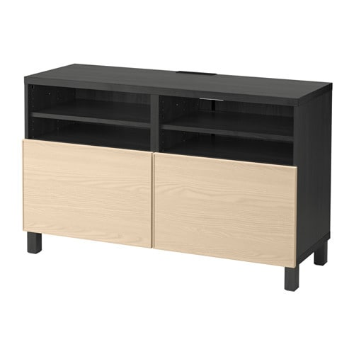 Best Tv Unit With Doors Black Browninviken Ash Veneer 47 14x15