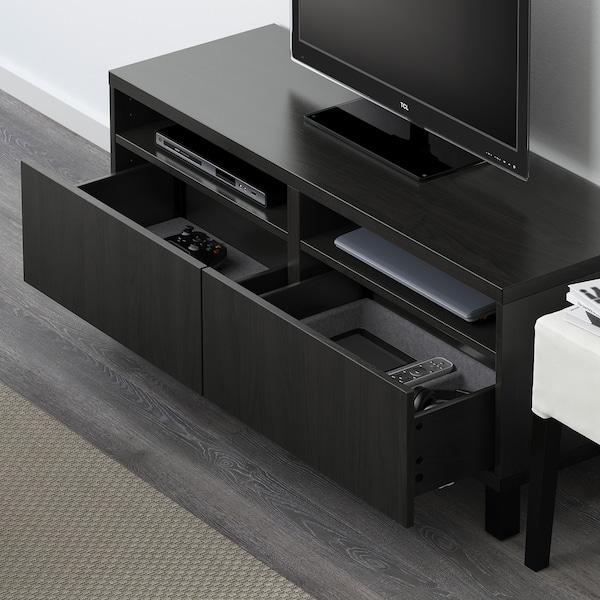 "BESTÅ TV unit with drawers, black-brown/Lappviken/Stubbarp black-brown, 47 1/4x16 1/2x18 7/8 """
