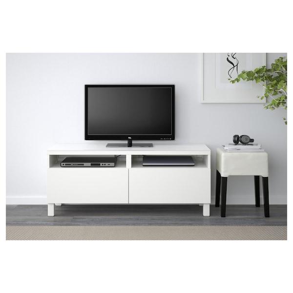 "BESTÅ TV unit with drawers, Lappviken white, 47 1/4x15 3/4x18 7/8 """