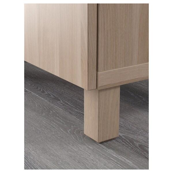 """BESTÅ TV unit with drawers, walnut effect light gray/Lappviken/Stubbarp walnut effect light gray, 47 1/4x16 1/2x18 7/8 """""""