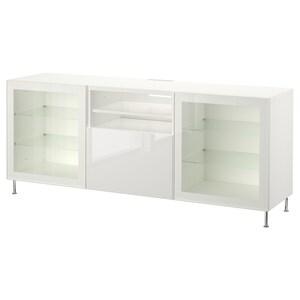 Color: White/selsviken/stallarp high gloss/white clear glass.