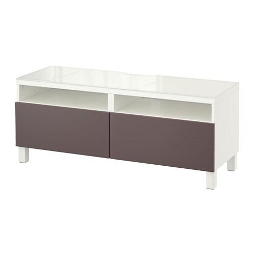 best tv unit with drawers white valviken dark brown 47 1 4x15 3 4x18 7 8 drawer runner. Black Bedroom Furniture Sets. Home Design Ideas