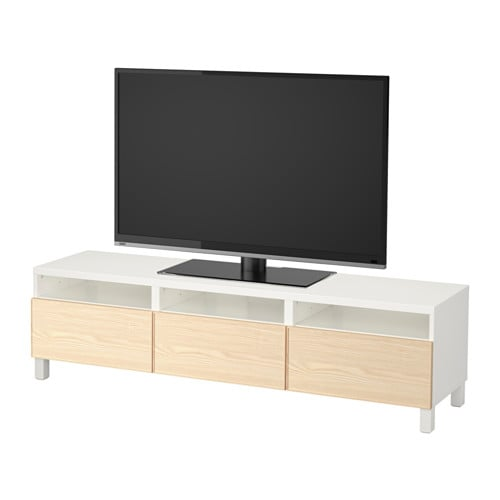 best tv unit with drawers white inviken ash veneer drawer runner push open ikea. Black Bedroom Furniture Sets. Home Design Ideas