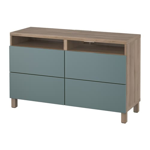 Best tv unit with drawers walnut effect light gray valviken gray turquoise drawer runner Walnut effect living room furniture