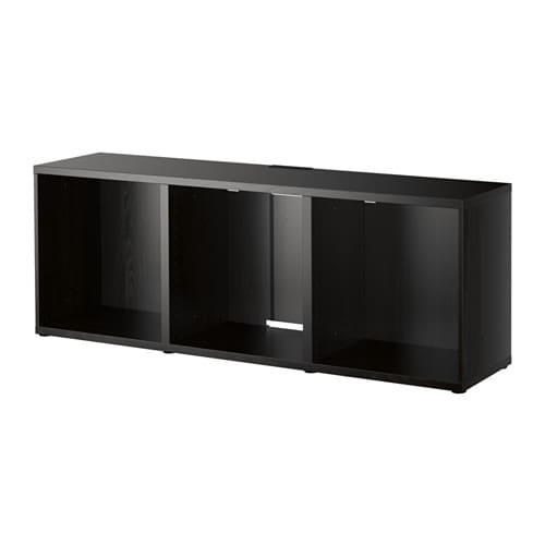 BESTÅ TV unit - black-brown - IKEA