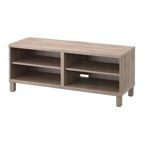 BEST TV unit walnut effect light gray IKEA
