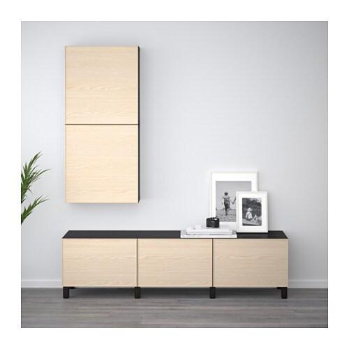 BESTÅ Wall Cabinet With 2 Doors   White/Selsviken High Gloss/white   IKEA
