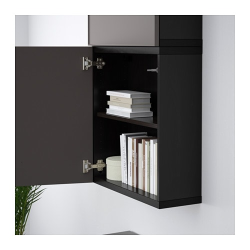 Black Wall Cabinet bestÅ wall cabinet with 2 doors - white/selsviken high-gloss/beige