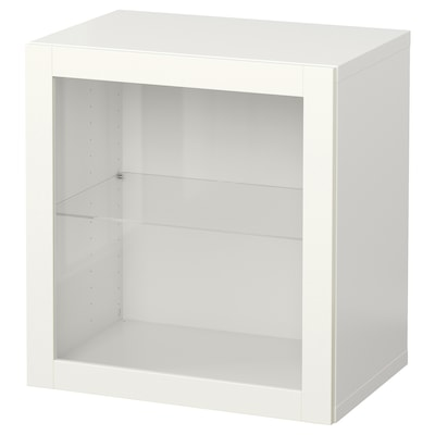 """BESTÅ Wall-mounted cabinet combination, white/Sindvik white, 23 5/8x16 1/2x25 1/4 """""""