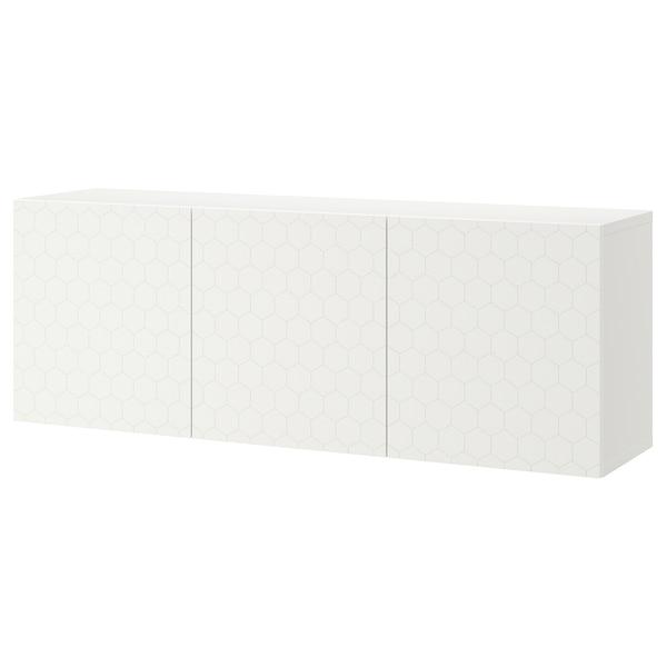 "BESTÅ wall-mounted cabinet combination white/Vassviken white 70 7/8 "" 16 1/2 "" 25 1/4 """