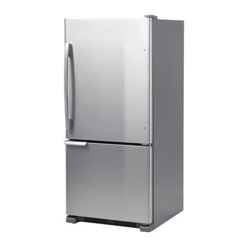 BETRODD Bottom freezer, Stainless steel