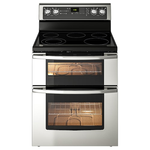 """BETRODD double oven range/ceramic cooktop Stainless steel 29 7/8 """" 28 1/2 """" 47 1/8 """" 209 lb"""