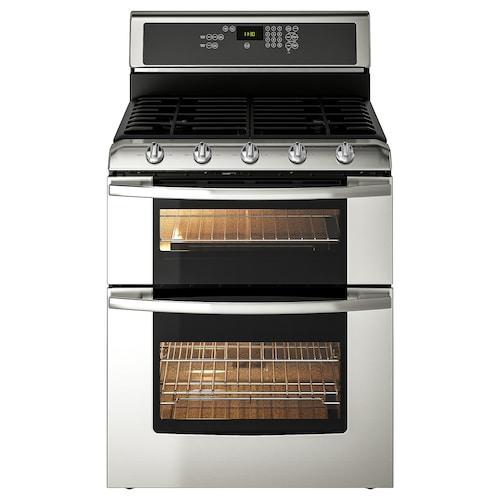 """BETRODD range w/double oven and gas cooktop 29 7/8 """" 28 1/2 """" 47 1/8 """" 209 lb"""