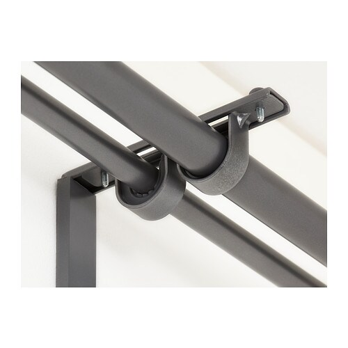 Betydlig Curtain Rod Holder Silver Color Ikea